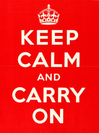 "World War II Propaganda (Ministry of Information, 1939). Full-Bleed British Crown (15"" X 20"") ""Keep Calm..."