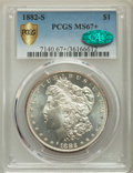 Morgan Dollars, 1882-S $1 MS67+ PCGS Secure. CAC. PCGS Population: (997/66 and 133/6+). NGC Census: (1741/115 and 64/4+). MS67. Mintage 9,2...