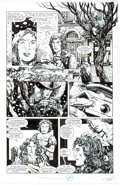 Original Comic Art:Panel Pages, Barry Windsor Smith and Bob Wiacek Archer and Armstrong #8Story Page 13 Original Art (Valiant, 1993)....