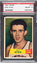 Basketball Cards:Singles (Pre-1970), 1957 Topps Dick Atha # 14 PSA NM-MT 8. . ...