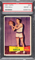 Basketball Cards:Singles (Pre-1970), 1957 Topps Tom Gola #44 PSA NM-MT 8 - Only One Higher. ...