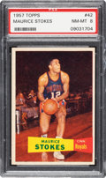 Basketball Cards:Singles (Pre-1970), 1957 Topps Maurice Stokes #42 PSA NM-MT 8 - Three Higher. ...