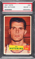 Basketball Cards:Singles (Pre-1970), 1957 Topps Mel Hutchins #46 PSA NM-MT 8 - None Higher! ...