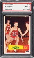 Basketball Cards:Singles (Pre-1970), 1957 Topps Med Park #45 PSA Mint 9 - Pop Two, None Higher! ...