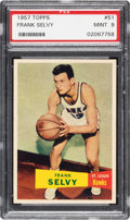 Basketball Cards:Singles (Pre-1970), 1957 Topps Frank Selvy #51 PSA Mint 9 - Pop Two, None Higher! ...