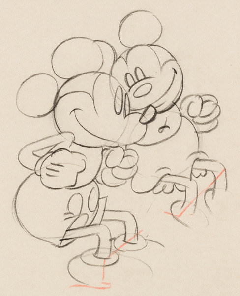 puppy love mickey mouse animation drawing walt disney 1933