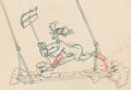 Animation Art:Production Drawing, The Big Wash Goofy Production Drawing Group (Walt Disney,1949). ...