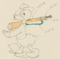 Animation Art:Production Drawing, The Vanishing Private Donald Duck Animation/Color Model Drawing (Walt Disney, 1942). ...