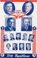 Political:Posters & Broadsides (1896-present), Willkie & McNary: Indiana Multigate Coattail Poster....