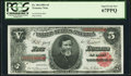 Large Size:Treasury Notes, Fr. 364 $5 1891 Treasury Note PCGS Superb Gem New 67PPQ.. ...