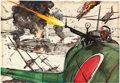"Movie Posters:War, Tora! Tora! Tora! by Robert McCall (20th Century Fox, 1970). Original Mixed Media Deluxe Lobby Card Artwork on Board (39.25""..."