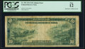 Error Notes:Large Size Errors, Small Ink Smear on Back Error Fr. 925 $10 1914 Federal Reserve Note PCGS Fine 12.. ...