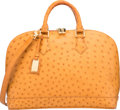 """Luxury Accessories:Bags, Louis Vuitton Camel Ostrich Alma PM Bag. Condition: 3. 12"""" Width x 9"""" Height x 7"""" Depth . ..."""