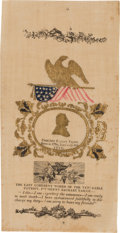 Political:Ribbons & Badges, Zachary Taylor: Spectacular Large Embossed Silk Memorial Ribbon....