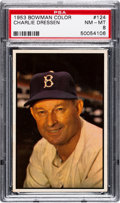 Baseball Cards:Singles (1950-1959), 1953 Bowman Color Charlie Dressen #124 PSA NM-MT 8....