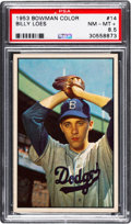Baseball Cards:Singles (1950-1959), 1953 Bowman Color Billy Loes #14 PSA NM-MT+ 8.5....