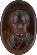 Political:3D & Other Display (pre-1896), Grover Cleveland: Hand-Carved Figural Document Clipboard. ...
