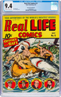 Golden Age (1938-1955):Non-Fiction, Real Life Comics #11 Mile High Pedigree (Nedor Publications, 1943) CGC NM 9.4 Off-white to white pages....