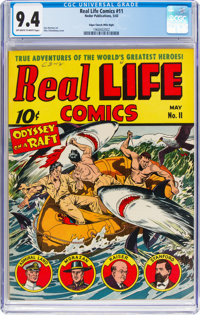 Real Life Comics #11 Mile High Pedigree (Nedor Publications, 1943) CGC NM 9.4 Off-white to white pages