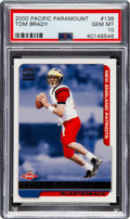 Football Cards:Singles (1970-Now), 2000 Pacific Paramount Tom Brady #138 PSA Gem Mint 10....