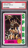 Basketball Cards:Singles (1970-1979), 1974 Topps George Gervin #196 PSA Mint 9....