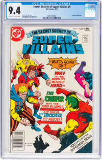 Secret Society of Super Villains #9 (DC, 1977) CGC NM 9.4 Off-white to white pages