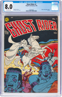 Ghost Rider #1 (Magazine Enterprises, 1950) CGC VF 8.0 Off-white pages