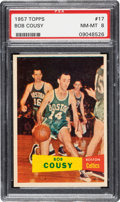 Basketball Cards:Singles (Pre-1970), 1957 Topps Bob Cousy #17 PSA NM-MT 8....