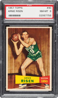 Basketball Cards:Singles (Pre-1970), 1957 Topps Arnie Risen #40 PSA NM-MT 8 - Only One Higher. ...