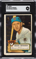 Autographs:Sports Cards, Signed 1952 Topps Bruce Edwards #224 SGC Authentic. ...