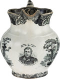 Political:3D & Other Display (pre-1896), Zachary Taylor: Rare Staffordshire Pitcher with Presidential Portrait....