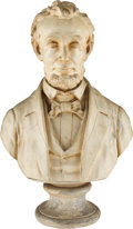 Political:3D & Other Display (pre-1896), Abraham Lincoln: 19th Century Plaster Bust....