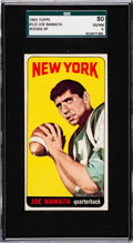 Football Cards:Singles (1960-1969), 1965 Topps Joe Namath (SP) #122 SGC 80 EX/NM 6....