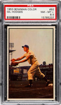 Baseball Cards:Singles (1950-1959), 1953 Bowman Color Gil Hodges #92 PSA NM-MT+ 8.5....