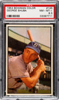 Baseball Cards:Singles (1950-1959), 1953 Bowman Color George Shuba #145 PSA NM-MT+ 8.5....