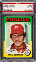 Baseball Cards:Singles (1970-Now), 1975 Topps Mike Schmidt #70 PSA Mint 9....