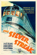 """Movie Posters:Action, The Silver Streak (RKO, 1934). One Sheet (27"""" X 41"""").. ..."""