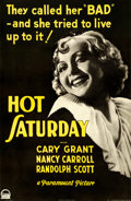 "Movie Posters:Drama, Hot Saturday (Paramount, 1932). Full-Bleed One Sheet (26"" X 40"").. ..."