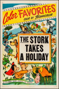 "Movie Posters:Animation, Columbia Color Favorites (Columbia, R-1948). Stock One Sheet (27"" X 41"") ""The Stork Takes a Holiday."" Animation.. ..."