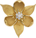 Estate Jewelry:Brooches - Pins, Diamond, Gold Pendant-Brooch . ...