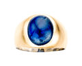 Estate Jewelry:Rings, Gentleman's Sapphire, Gold Ring . ...