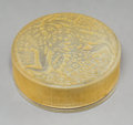 Art Glass:Lalique, R. Lalique Frosted Glass Isabelle Box with Sepia Patina.Circa 1924. Molded R. LALIQUE. M p. 234, No. 64...