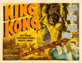"Movie Posters:Horror, King Kong (RKO, R-1942). Half Sheet (22"" X 28"") Style A.. ..."