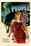 "Movie Posters:Horror, Cat People (RKO, 1942). One Sheet (27"" X 41"") William Rose Artwork.. ..."