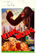 "Movie Posters:Horror, King Kong (Cine Vog, R-1962). Autographed Belgian (14.5"" X 22"")....."