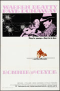 """Movie Posters:Crime, Bonnie and Clyde (Warner Brothers-Seven Arts, 1967). Folded, VeryFine-. One Sheet (27"""" X 41""""). Crime.. ..."""