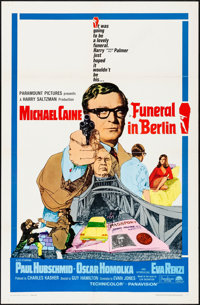 "Funeral in Berlin (Paramount, 1967). Folded, Very Fine. One Sheet (27"" X 41""). Thriller"