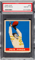 Football Cards:Singles (Pre-1950), 1949 Leaf Pete Pihos #28 PSA NM-MT 8 - Two Higher. ...