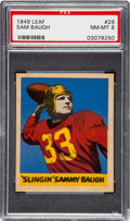 Football Cards:Singles (Pre-1950), 1949 Leaf Sam Baugh #26 PSA NM-MT 8 - Only One Higher. ...