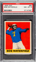 Football Cards:Singles (Pre-1950), 1949 Leaf Bob Waterfield #89 PSA NM-MT 8 - Two Higher. ...